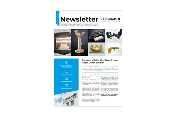 Newsletter 3D Druck