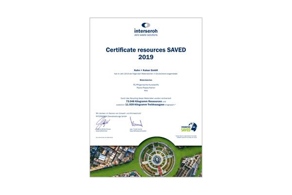 Zertifikat Resources saved