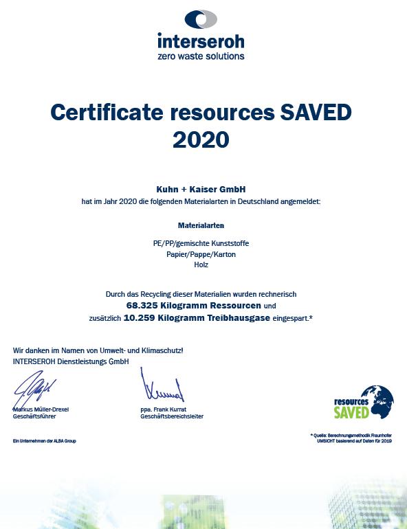 Einsparung von Ressourcen und Treibhausgasen durch Recycling